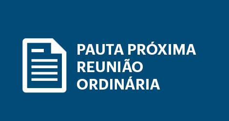 Pauta reunião ordinária Câmara de Rio Novo