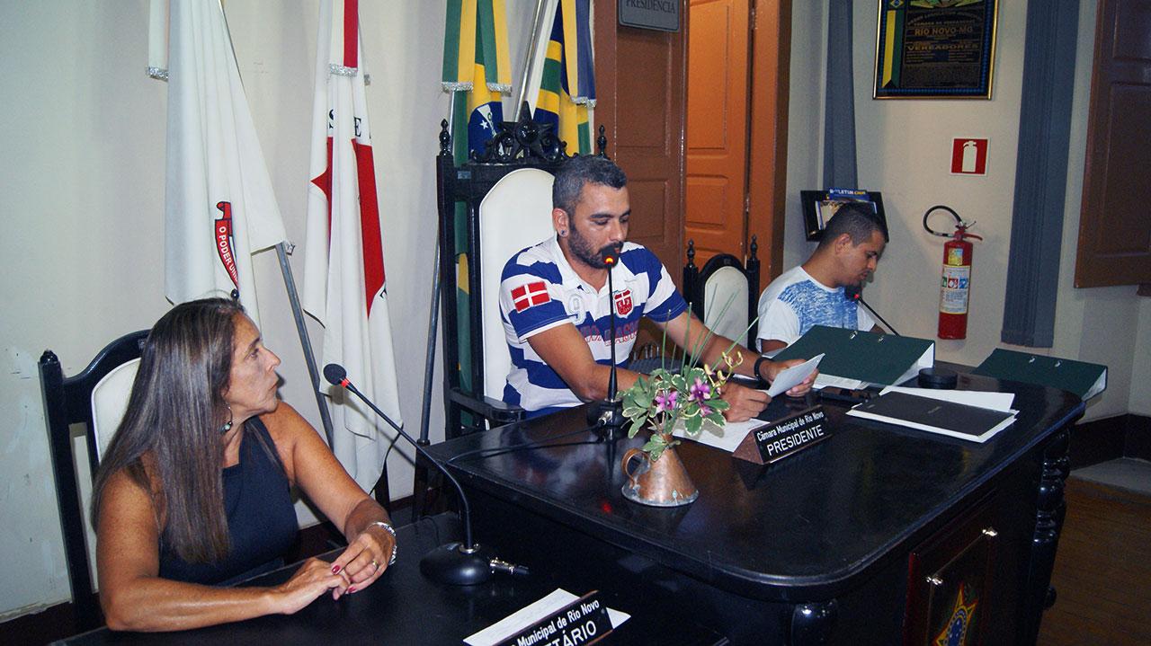Reunião Câmara de Rio Novo
